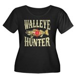 Walleye Hunter Women's Plus Size Scoop Neck Dark T