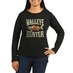 Walleye Hunter Women's Long Sleeve Dark T-Shirt