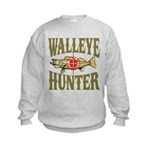Walleye Hunter Kids Sweatshirt