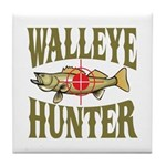 Walleye Hunter Tile Coaster
