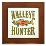 Walleye Hunter Framed Tile