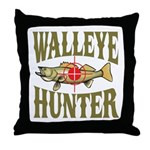 Walleye Hunter Throw Pillow