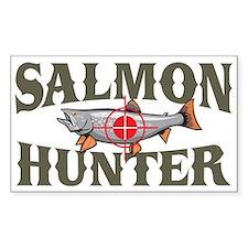 Salmon Hunter Rectangle Decal
