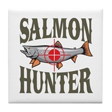 Salmon Hunter Tile Coaster