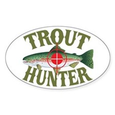Trout Hunter Oval Decal