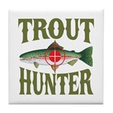Trout Hunter Tile Coaster