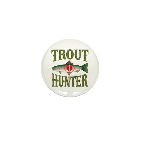 Trout Hunter Mini Button