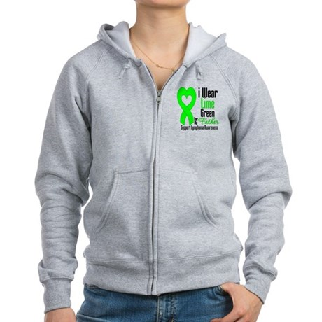 Lymphoma Heart Father Women's Zip Hoodie