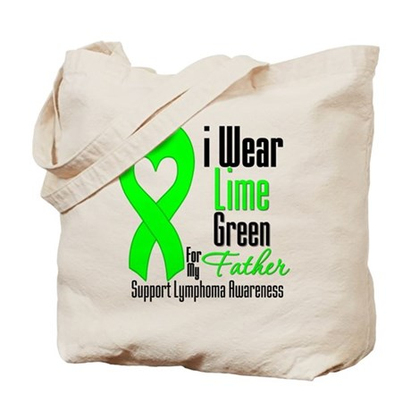 Lymphoma Heart Father Tote Bag