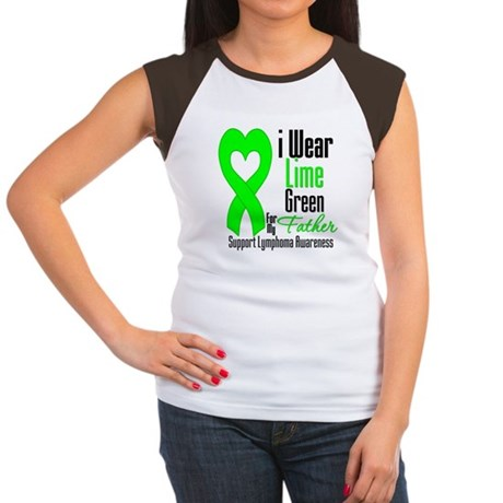 Lymphoma Heart Father Women's Cap Sleeve T-Shirt