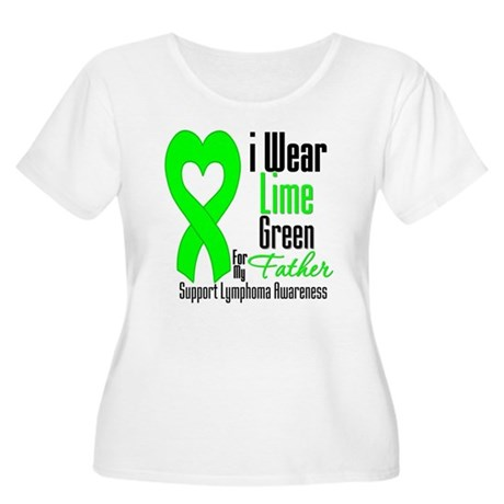 Lymphoma Heart Father Women's Plus Size Scoop Neck