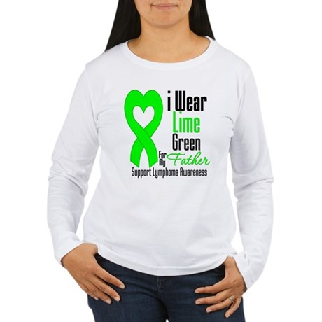 Lymphoma Heart Father Women's Long Sleeve T-Shirt