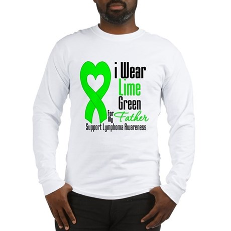 Lymphoma Heart Father Long Sleeve T-Shirt
