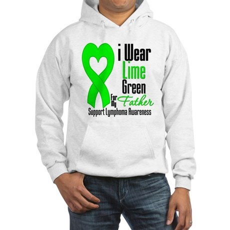 Lymphoma Heart Father Hooded Sweatshirt