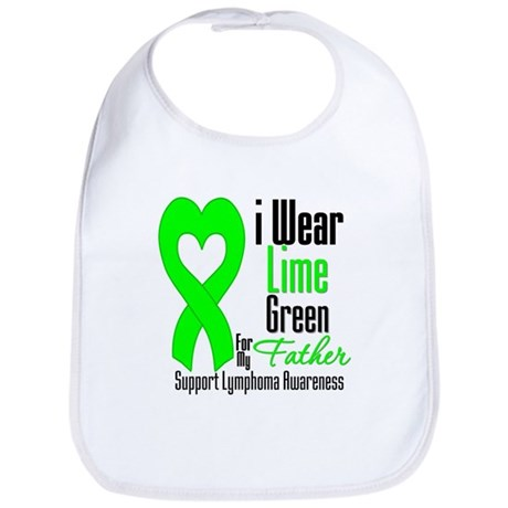 Lymphoma Heart Father Bib