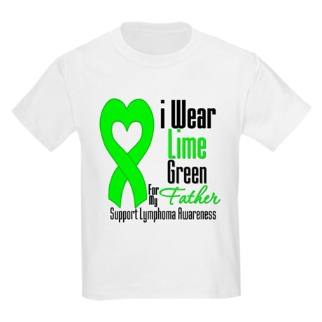 Lymphoma Heart Father Kids Light T-Shirt