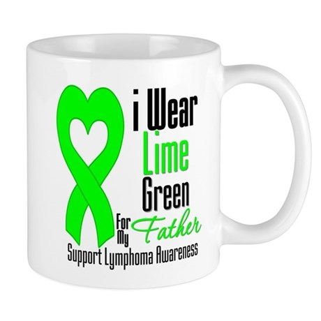 Lymphoma Heart Father Mug
