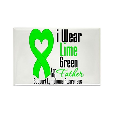 Lymphoma Heart Father Rectangle Magnet (10 pack)