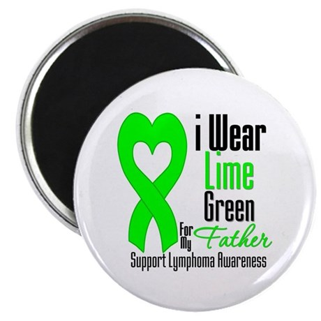 "Lymphoma Heart Father 2.25"" Magnet (10 pack)"