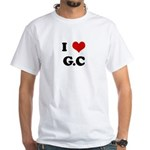 I Love G.C White T-Shirt