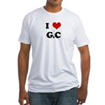 I Love G.C Fitted T-Shirt