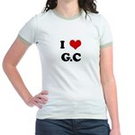 I Love G.C Jr. Ringer T-Shirt