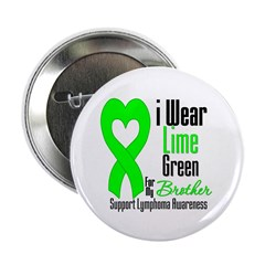 "I Wear Lime Green Brother 2.25"" Button (100 pack)"
