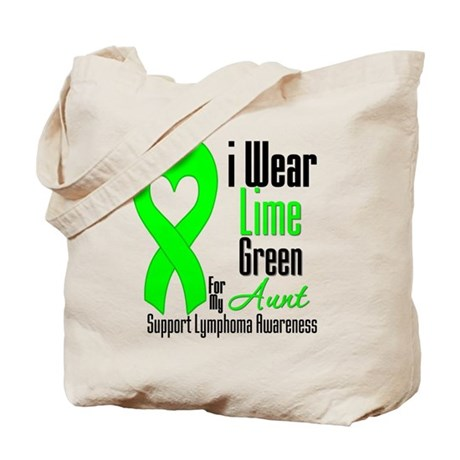Lymphoma Heart Aunt Tote Bag