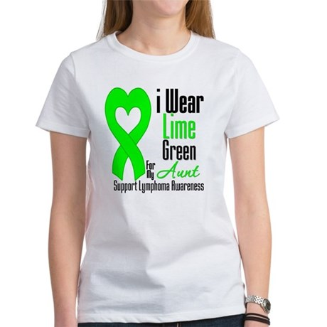 Lymphoma Heart Aunt Women's T-Shirt