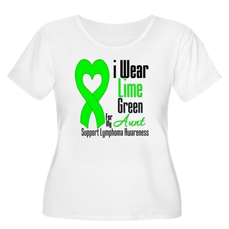 Lymphoma Heart Aunt Women's Plus Size Scoop Neck T