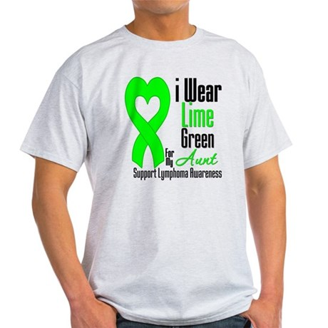 Lymphoma Heart Aunt Light T-Shirt