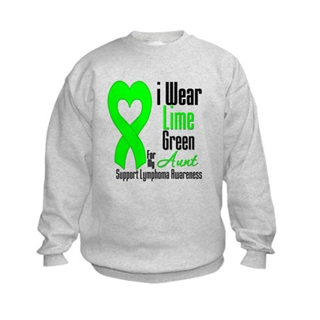Lymphoma Heart Aunt Kids Sweatshirt