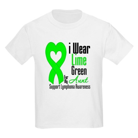 Lymphoma Heart Aunt Kids Light T-Shirt