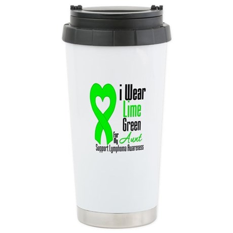 Lymphoma Heart Aunt Ceramic Travel Mug