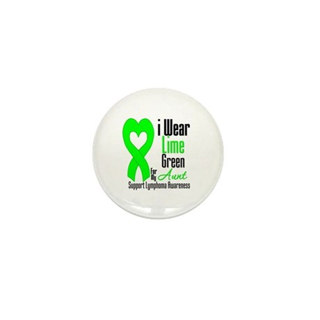Lymphoma Heart Aunt Mini Button (100 pack)