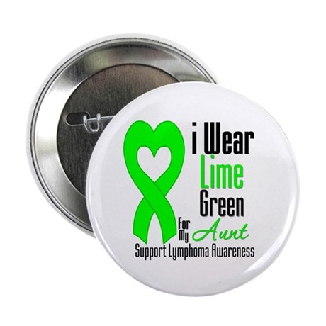 "Lymphoma Heart Aunt 2.25"" Button (100 pack)"