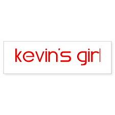 Kevin's Girl Bumper Bumper Sticker