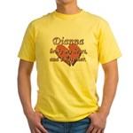 Dianna broke my heart and I hate her Yellow T-Shir