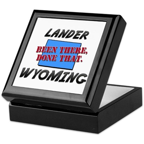 lander wyoming - been there, done that Keepsake Bo