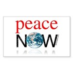 Peace Now Rectangle Sticker 50 pk)