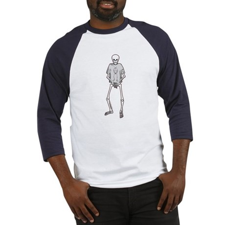 T-Shirt Skeleton Baseball Jersey