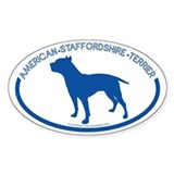 &quot;American Staffordshire Terrier&quot; - Oval Decal