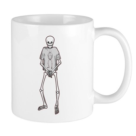T-Shirt Skeleton Mug