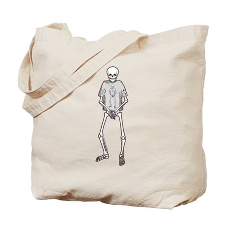 T-Shirt Skeleton Tote Bag