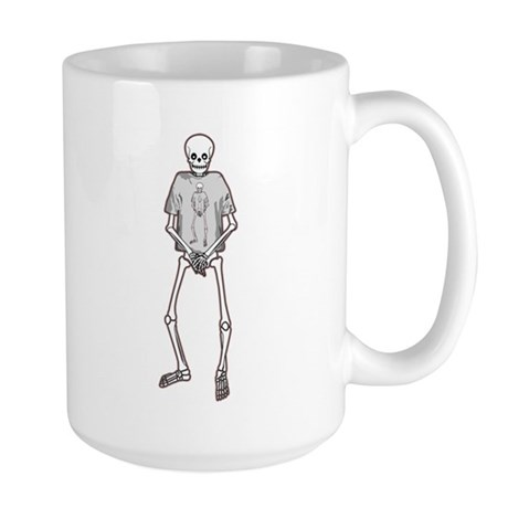T-Shirt Skeleton Large Mug