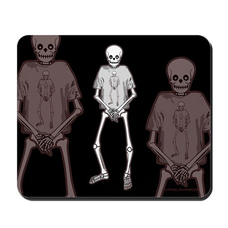 T-Shirt Skeleton Mousepad