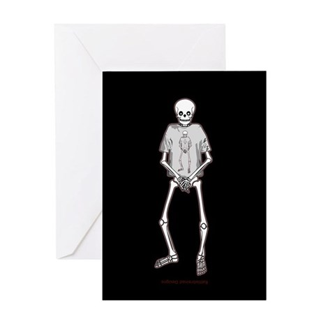 T-Shirt Skeleton Greeting Card