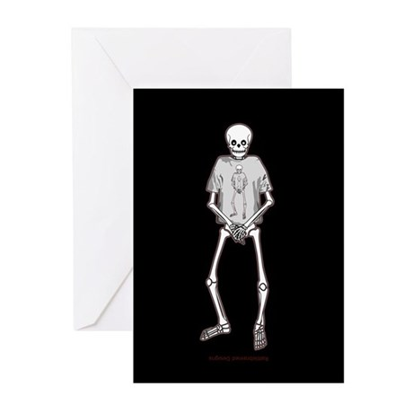 T-Shirt Skeleton Greeting Cards (Pk of 20)