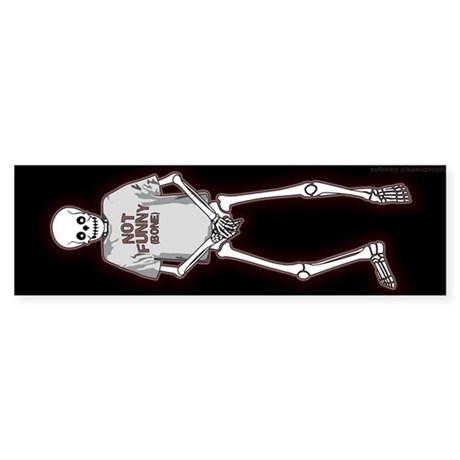 T-Shirt Skeleton Sticker (Bumper)