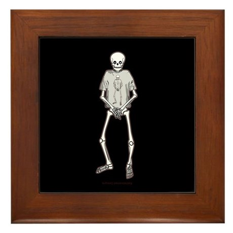 T-Shirt Skeleton Framed Tile